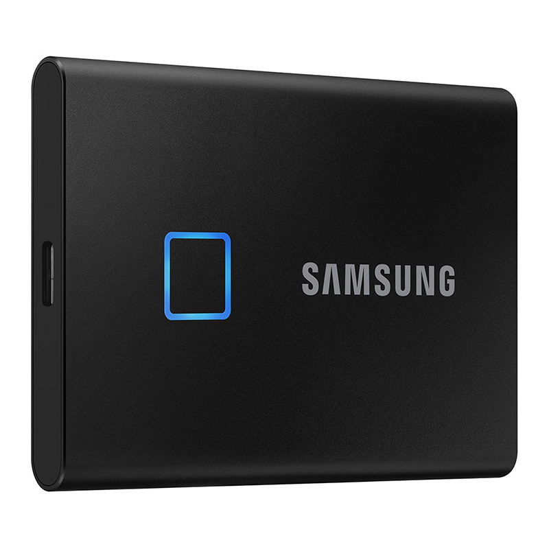 Samsung 500GB T7 USB-C Touch Portable SSD Drive (Black) - 540MB/s