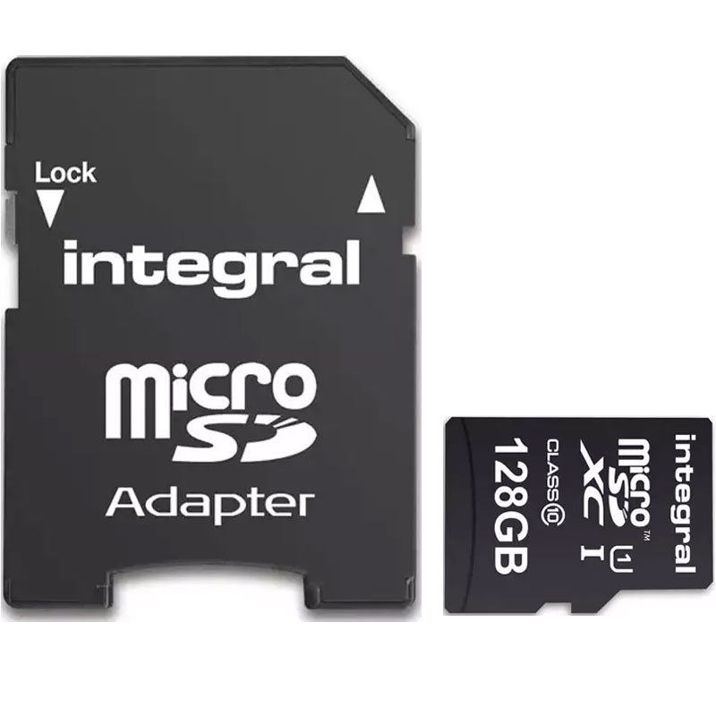 Compare prices for Integral 128GB Smartphone and Tablet Micro SD Card SDXC with Adapter - 80MB/s