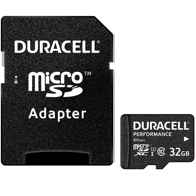 Cheapest price of Duracell 32GB Performance Micro SD Card SDHC + Adapter in new is £10.99