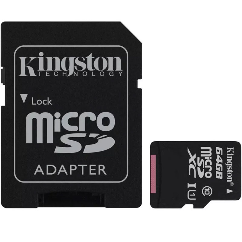 Kingston 64gb Canvas Select Micro Sd Card Sdxc Sd Adapter 80mb S