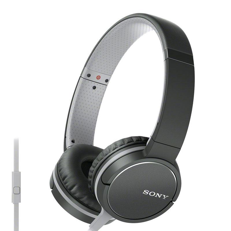 Sony Lightweight Headphone with Smartphone Control - Black