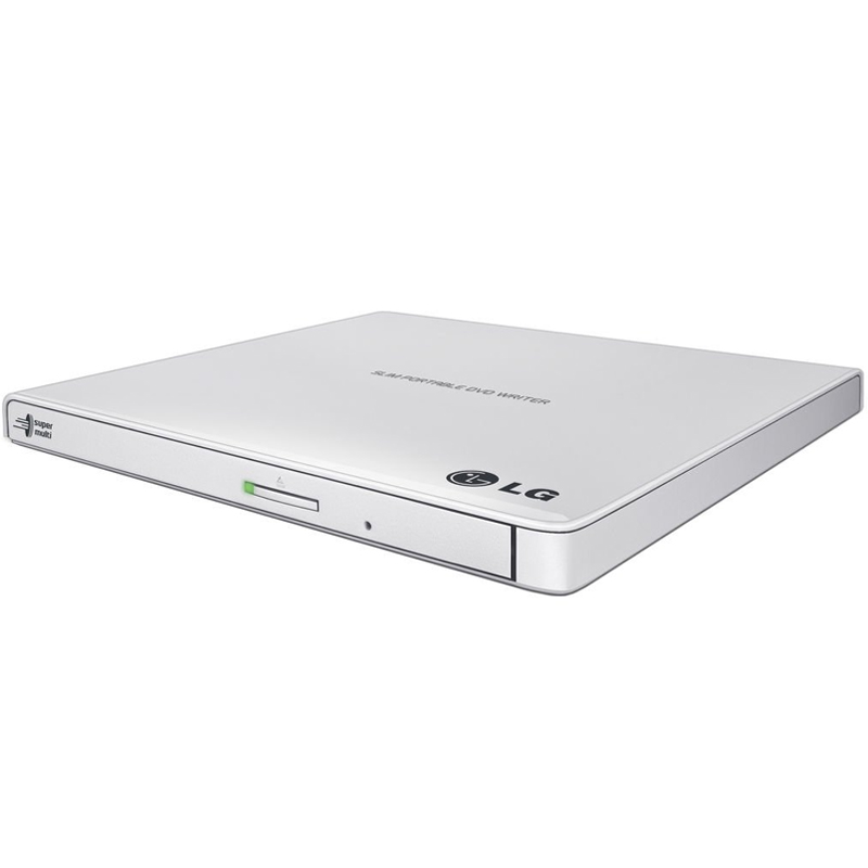 LG Ultra Slim Portable USB 2.0 DVD-Writer - White