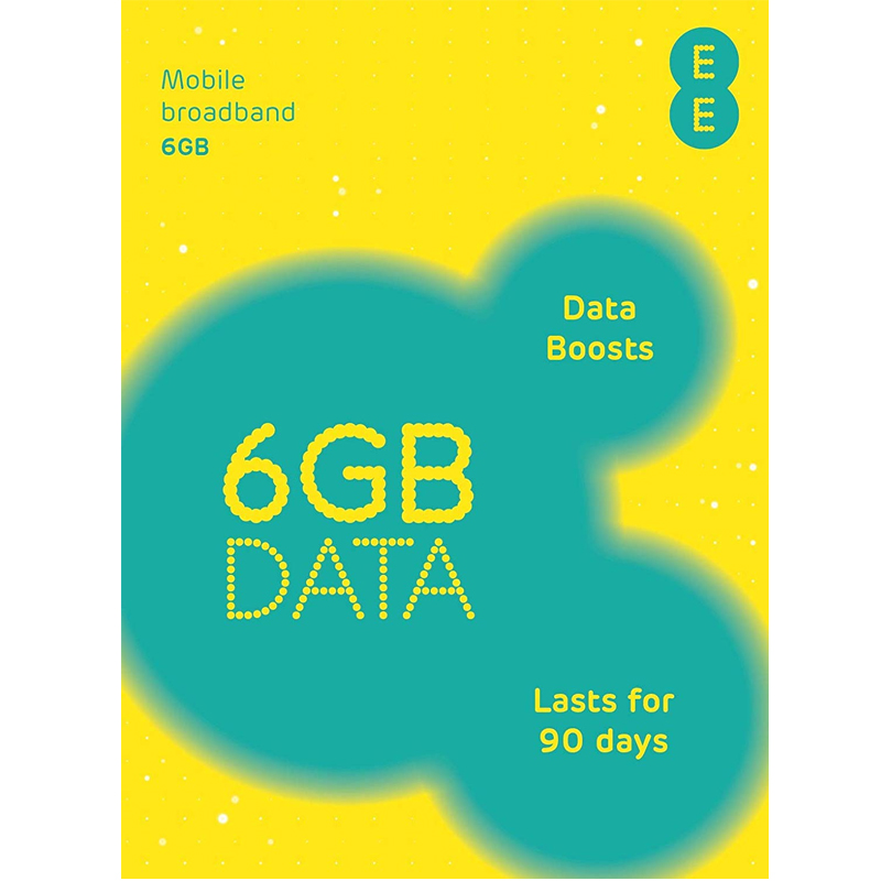 EE PAYG 4G Trio SIM Pack with 6GB Data - 90 Days