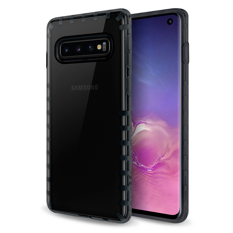 oneo VISION Samsung Galaxy S10 Transparent Case - Dark Grey