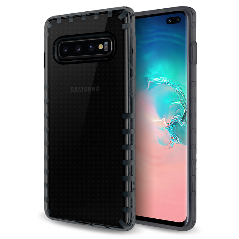 oneo VISION Samsung Galaxy S10 Plus Transparent Case - Dark Grey