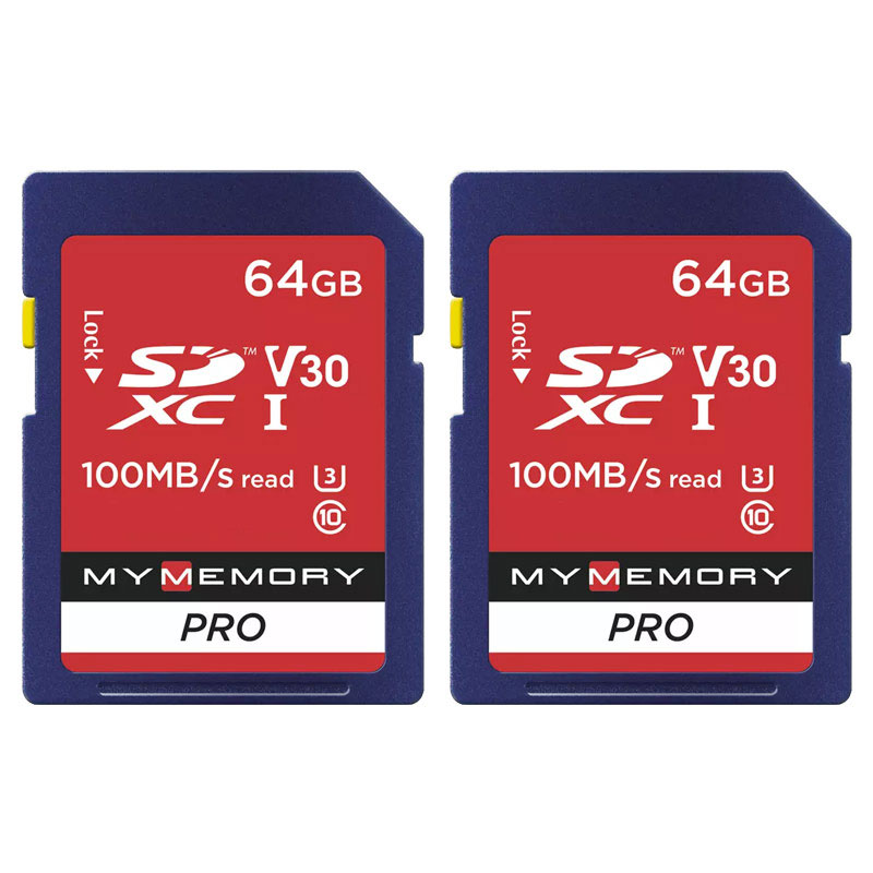 Mymemory 64gb V30 Pro High Speed Sd Card Sdxc Uhs 1 U3 100mb S 2 Pack