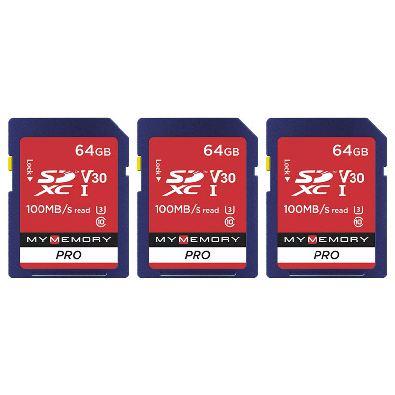 Click to view product details and reviews for Mymemory 64gb V30 Pro High Speed Sd Card Sdxc Uhs 1 U3 100mb S 3 Pack.