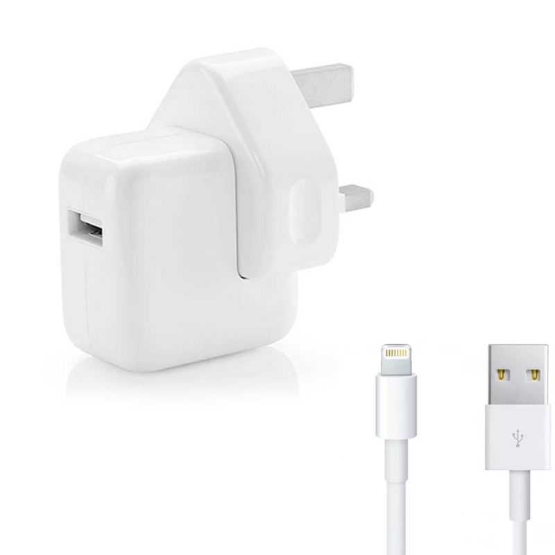 Apple 10W 2.1A iPad Charger Adapter + Lightning Cable