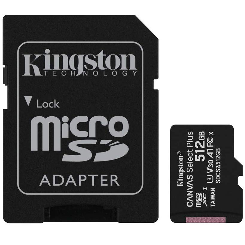 Click to view product details and reviews for Kingston 512gb Canvas Select Plus Micro Sd Card Sdxc Sd Adapter 100mb S.