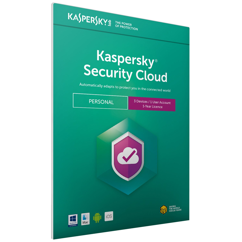 Kaspersky Security Cloud 2021 - Personal (3 Devices, 1 Year) FFP