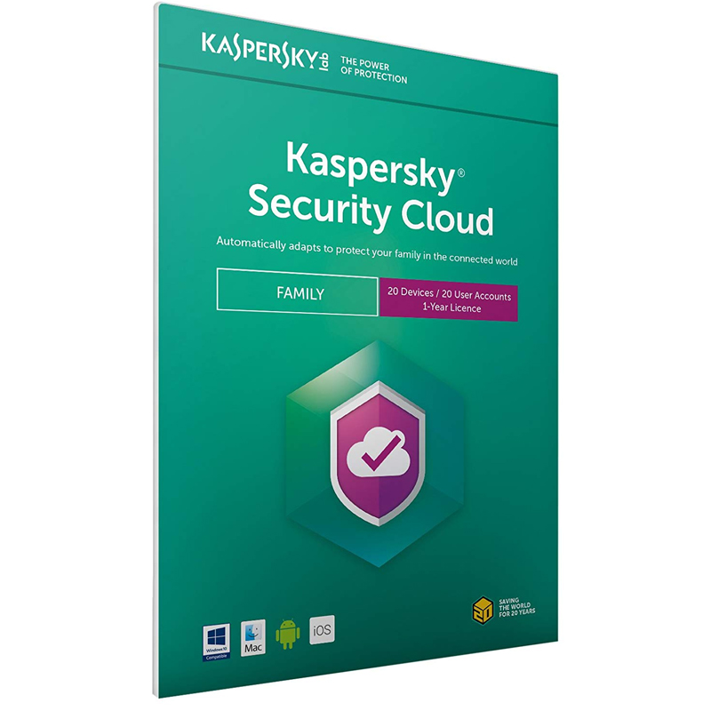 Kaspersky Security Cloud 2021 - Family (20 Devices, 1 Year) FFP