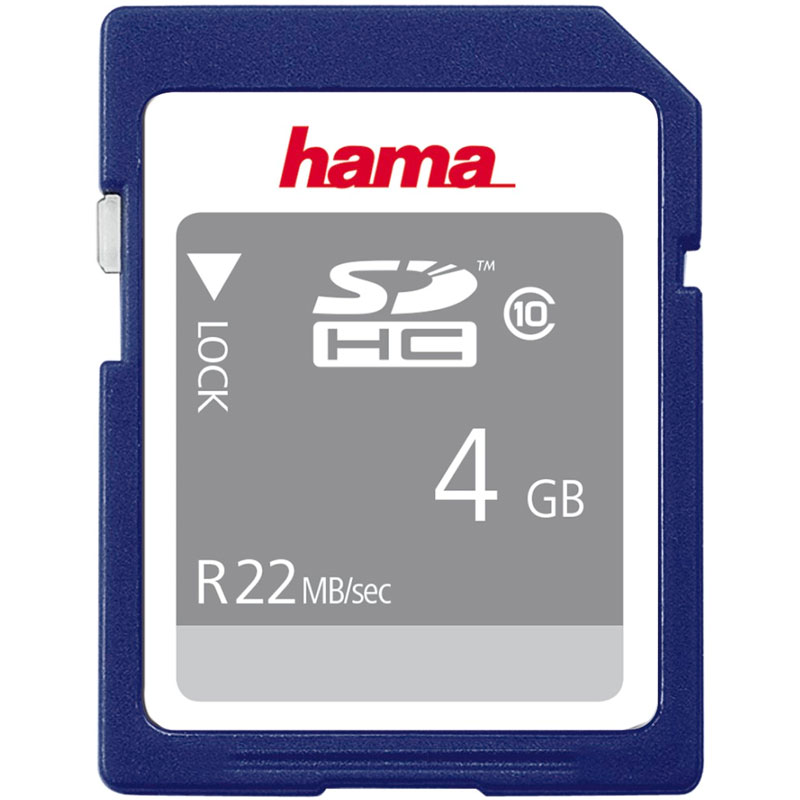 Compare retail prices of Hama 4GB High-Speed SD Card SDHC - 22MB/s to get the best deal online
