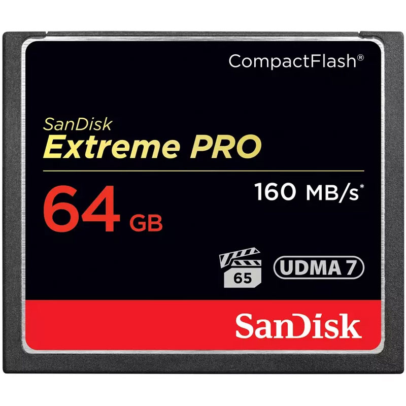 Sandisk 64gb 1067x Extreme Pro Compact Flash Card 160mb S