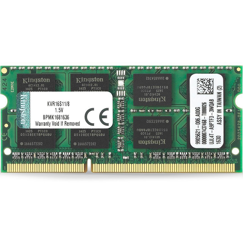 Kingston ValueRAM 8GB 1600MHz DDR3 Non-ECC 204-Pin CL11 SODIMM Laptop Memory Module