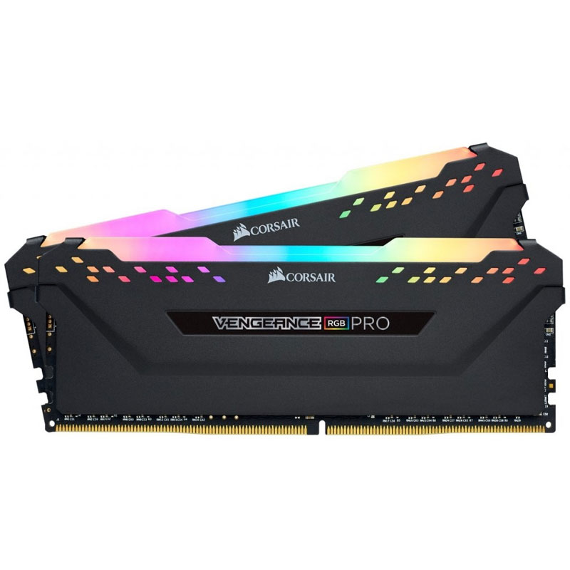 Corsair Vengeance RGB PRO 16GB (2x8GB) 2666MHz DDR4 Non-ECC 288-Pin CL16 DIMM PC Memory Module - Bla