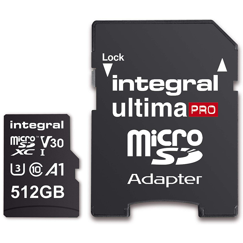 Integral 512gb Ultimapro V30 Premium Micro Sd Card Sdxc Uhs I U3 Adapter 100mb S