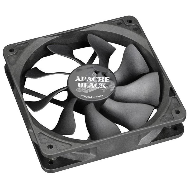 Compare prices for Akasa Apache Black AK-FN058 120mm 1300RPM Black Super Silent Case Fan