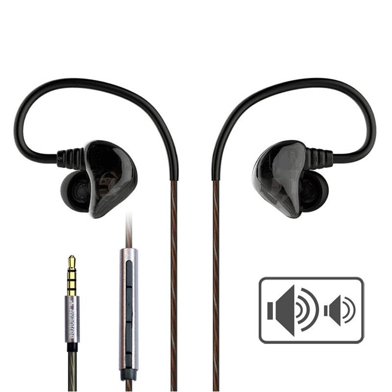 Avantree Dual Driver In-Ear Sports Earphones - Black
