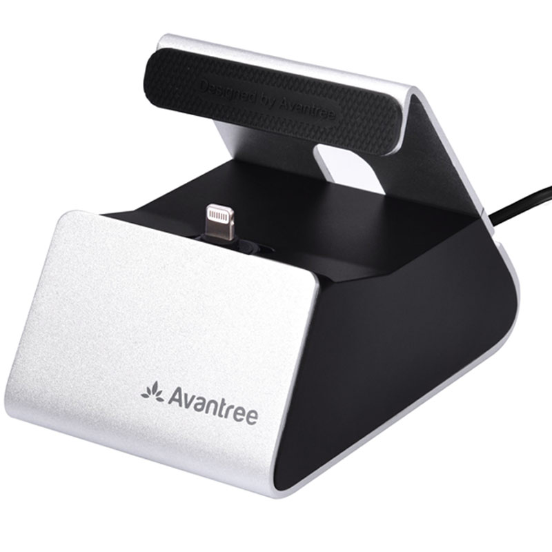 Avantree iPhone / iPad Sync & Charge Lightning Dock - Silver
