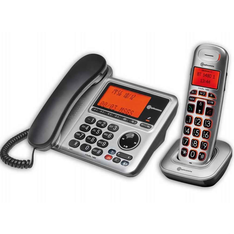 Click to view product details and reviews for Amplicomms Bigtel 1480 Combo Set With Answering Machine.