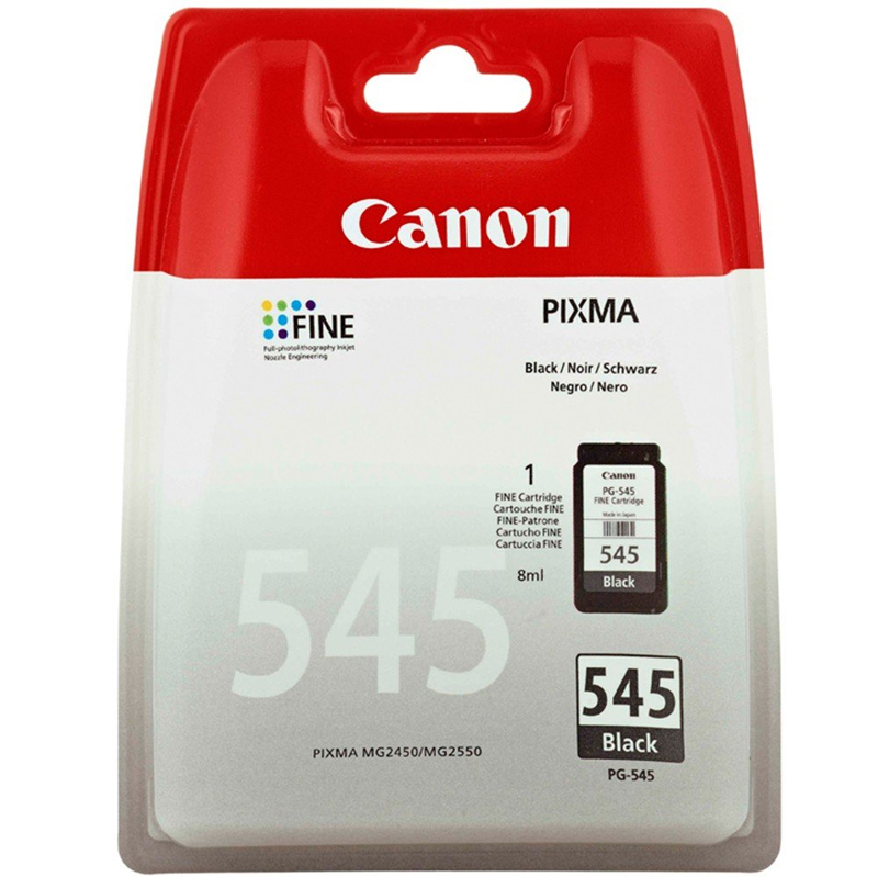 Canon PG-545 Black Ink Cartridge (8287B001) - Single Pack