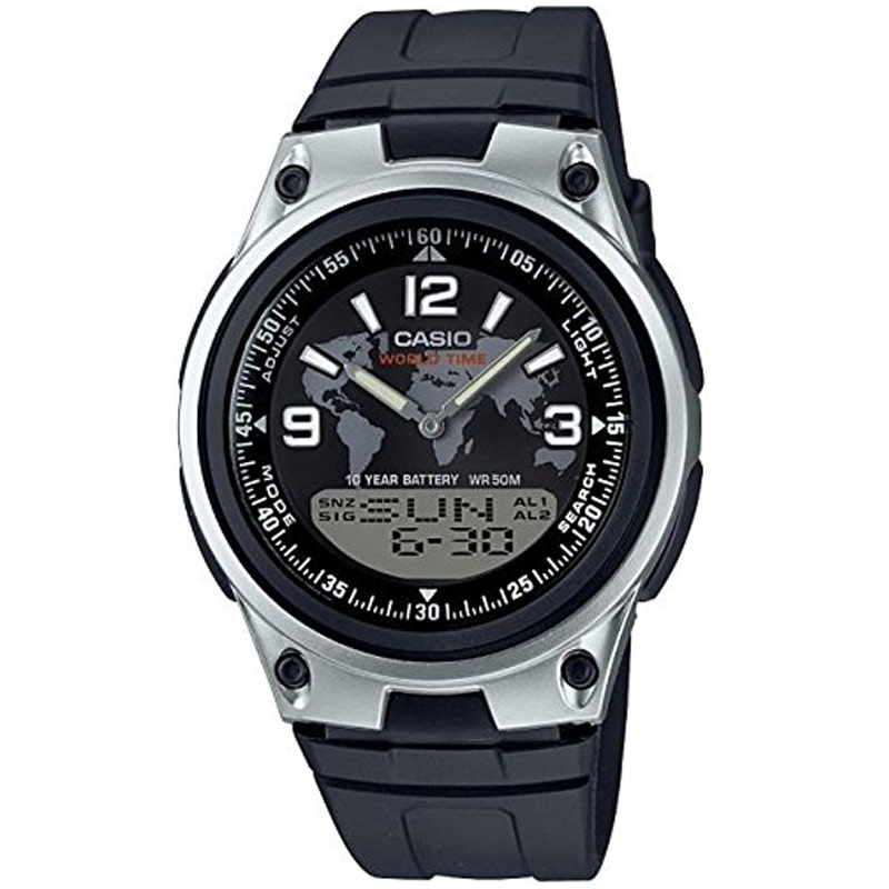 Compare prices for Casio Mens Quartz Watch with Digital and Analogue Display and Resin Strap