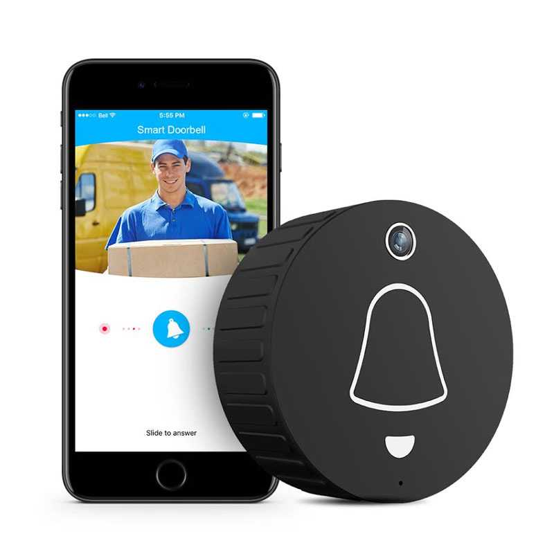 Image For Clever Dog Smart Doorbell Camera - Black