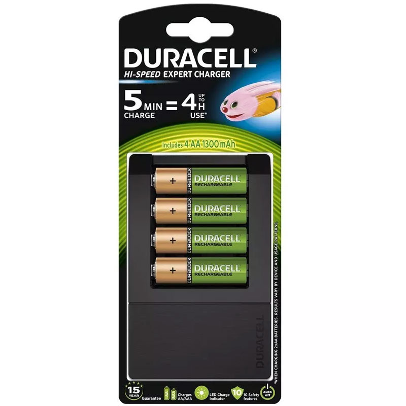 Compare retail prices of Duracell 15 Min Fast Battery Charger + 4 AA Rechargeable Batteries to get the best deal online
