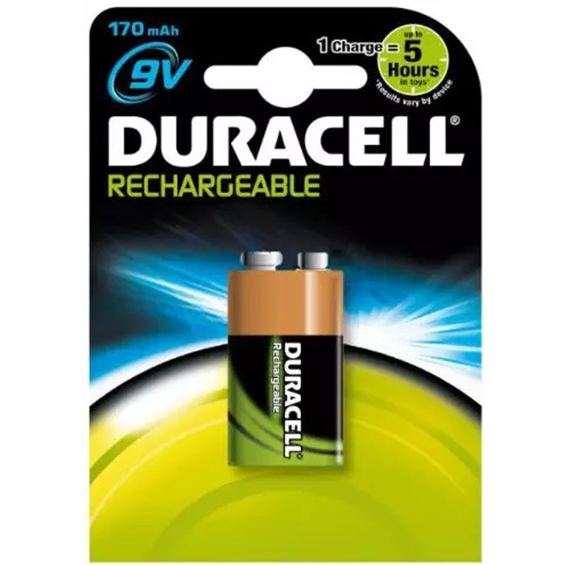 Compare prices for Duracell 170mAh 9V Rechargeable Battery