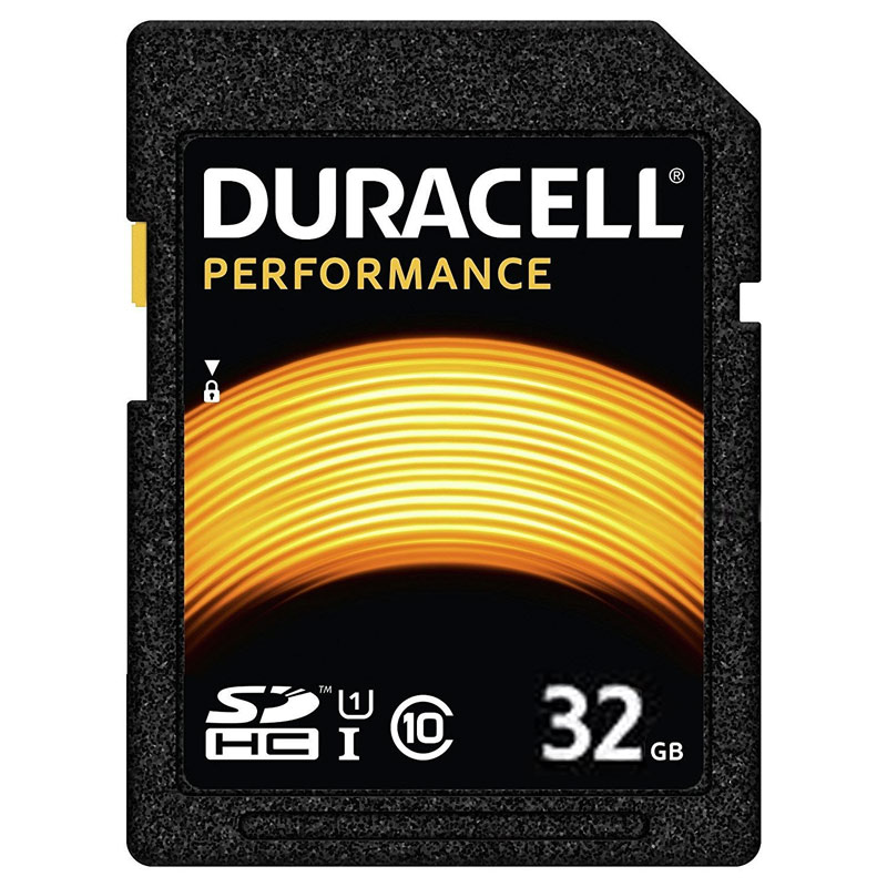 Cheapest price of Duracell 32GB Performance SD Card SDHC in new is £9.98