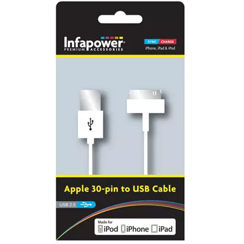 Compare prices for Infapower 30-Pin Apple Dock USB Cable - 1M