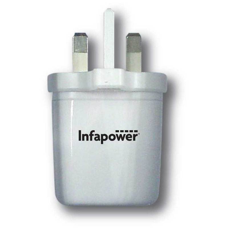 Compare prices for Infapower 2.1A USB Twin Mains Charger
