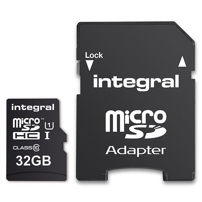 Click to view product details and reviews for Integral 32gb Micro Sd Card Sdhc Uhs I U1 Adapter 90mb S.
