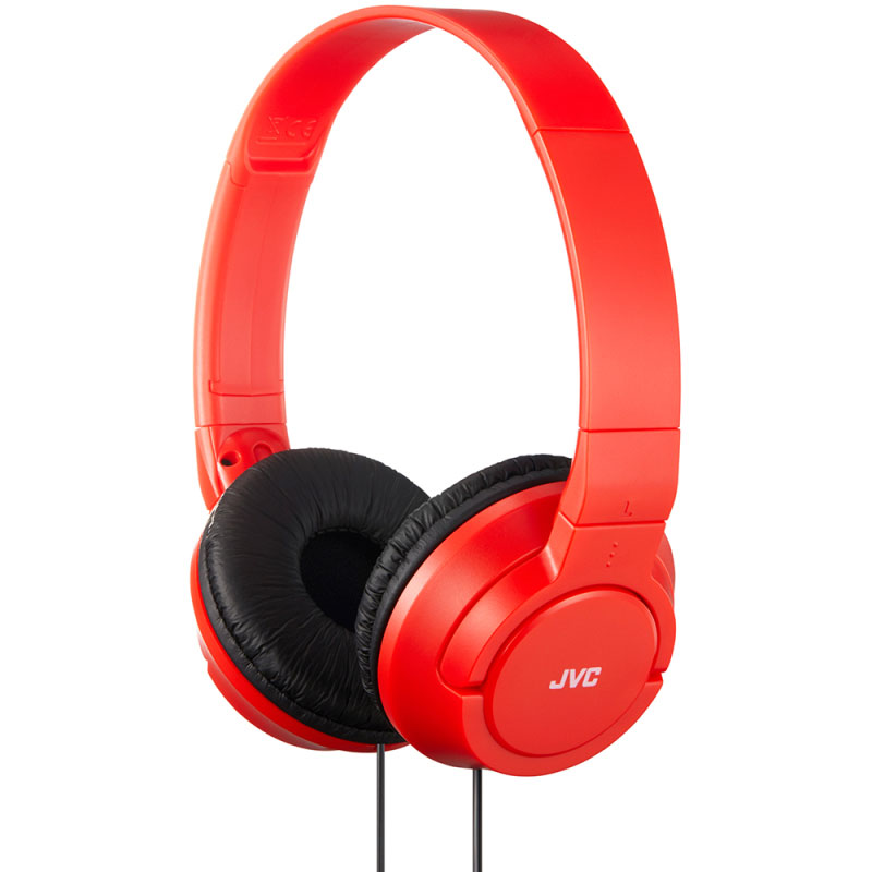 JVC Over-Ear Powerful Bass Headphones 3.5mm Corded - Red