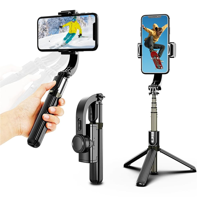 3 In 1 Handheld Bluetooth Gimbal Stabiliser Mobile Phone Tripod Selfie Stick