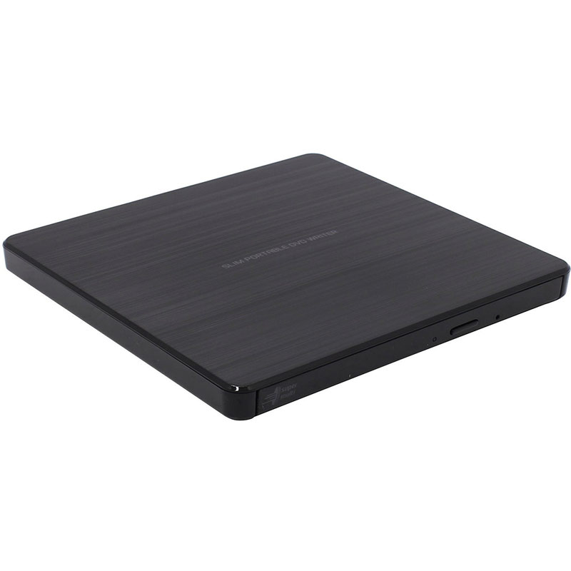 LG 8x USB 2.0 Portable Slim DVD-RW - Black