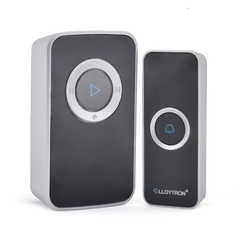 Lloytron Melody Rechargeable Portable Door Chime Kit - Black