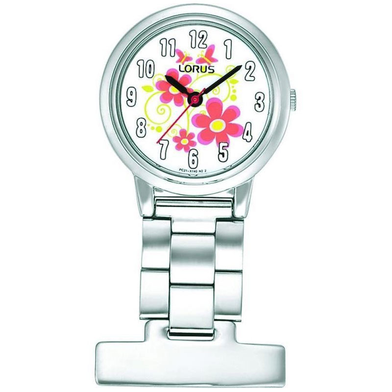 Compare prices for Nurses Fob Watch with Flower Pattern Dial