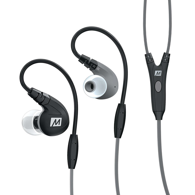 MEE Audio M7P Sports In Ear Earphone with Mic and Universal Control - Black