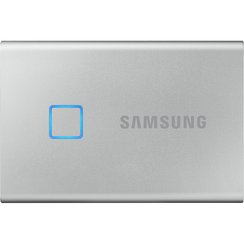 Samsung 1TB T7 USB-C Touch Portable SSD Drive (Silver) - 540MB/s