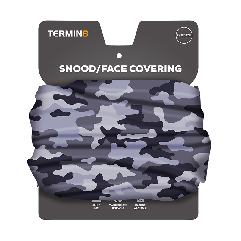 Snood Face Covering - Grey Camo