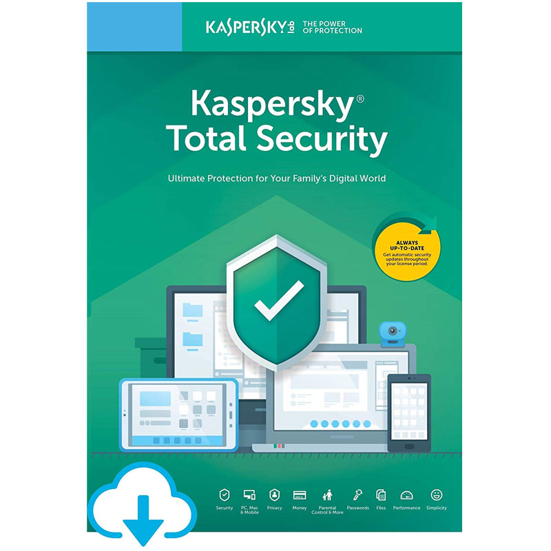 Kaspersky Total Security 2021 (10 Devices, 1 Year)