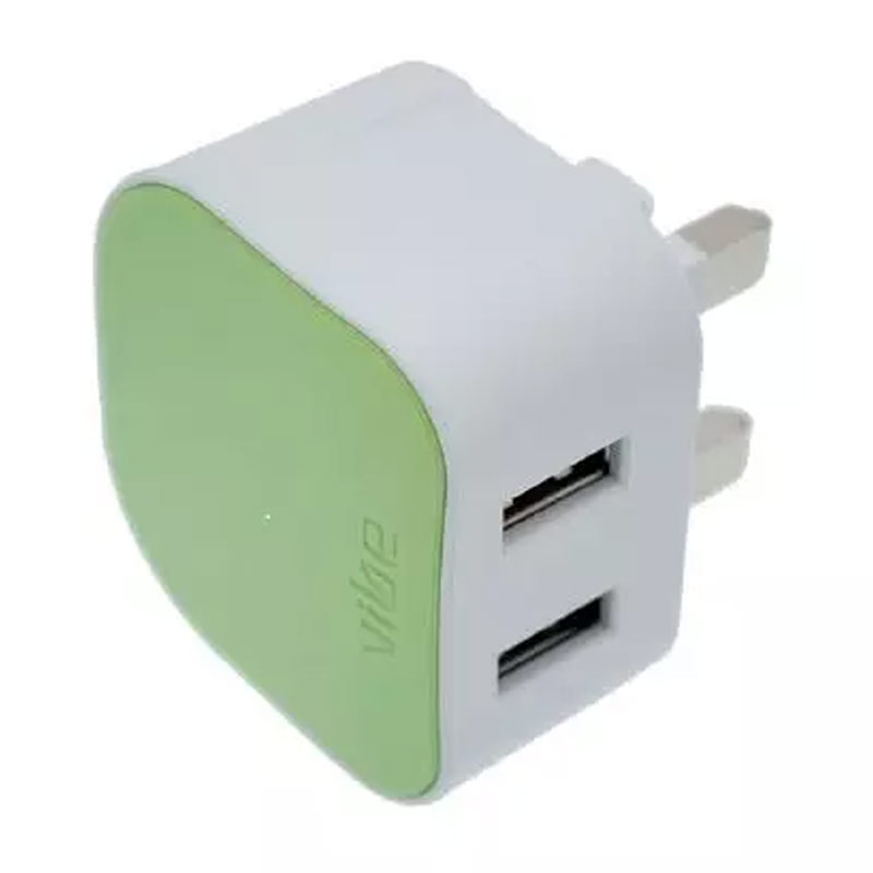 Compare prices for Vibe Dual 3.1A USB Mains Charger-Green