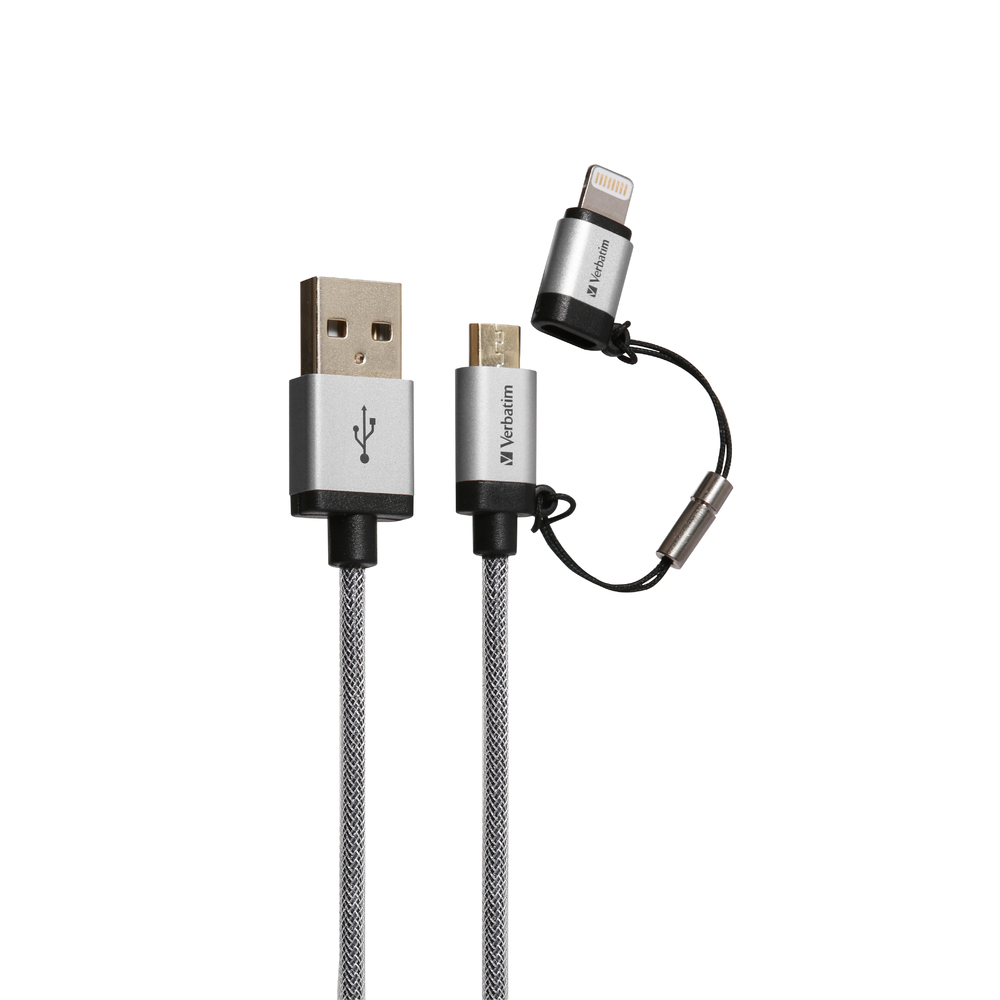 Compare prices for Verbatim 1.2M Micro USB and Lightning Cable
