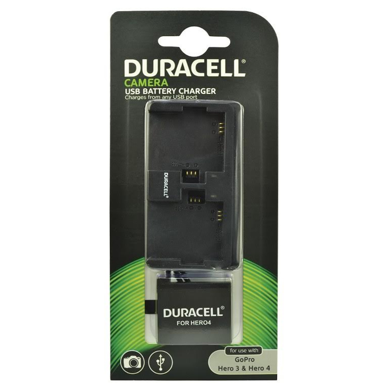 Compare retail prices of Duracell GoPro Hero 3 and 4 Dual Slot Charger + Battery to get the best deal online