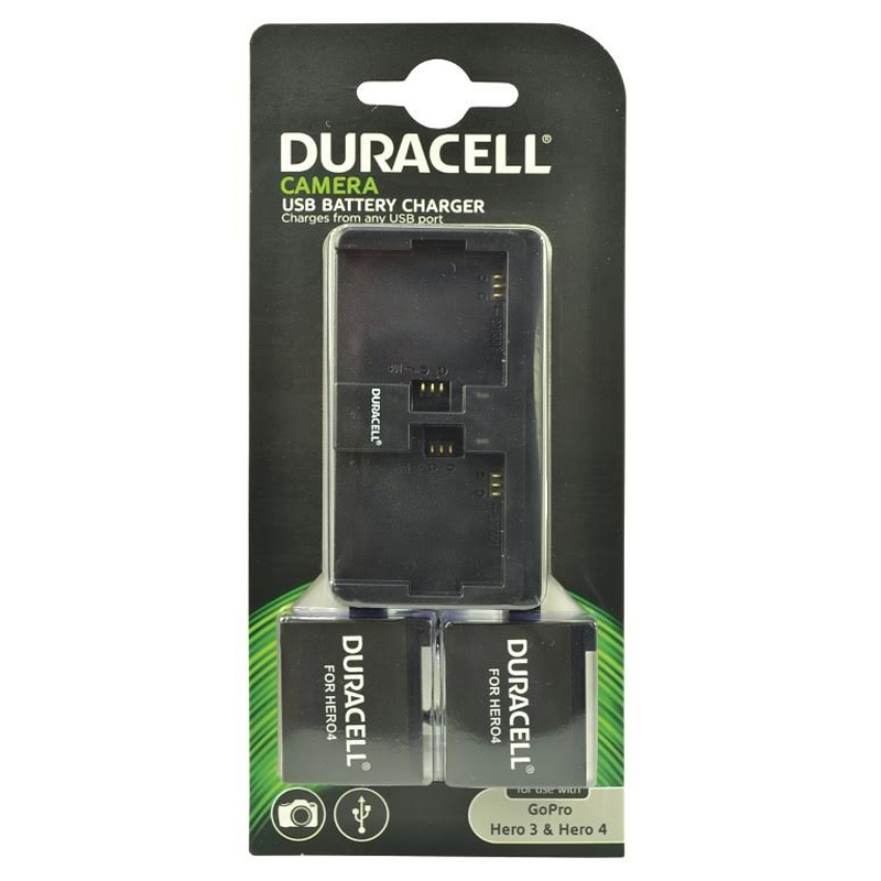 Compare retail prices of Duracell Dual Charger for GoPro Hero 3 and 4 + 2 Batteries to get the best deal online