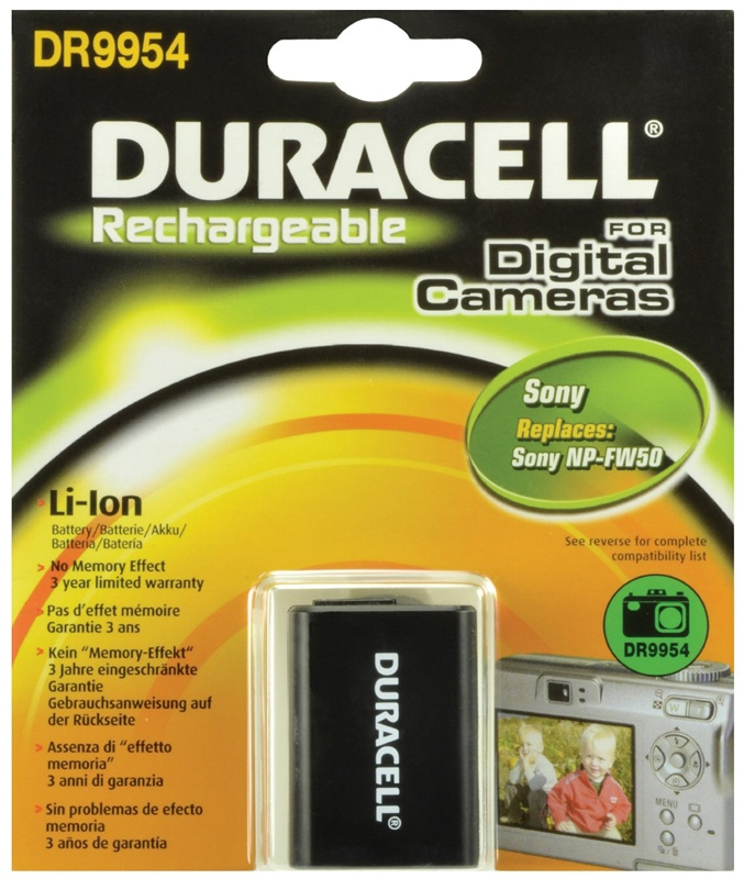 Compare retail prices of Duracell Sony NP-FW50 Camera Battery to get the best deal online