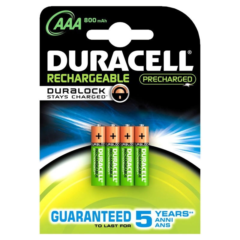 Compare retail prices of Duracell StayCharged 800mAh AAA Rechargeable Batteries - 4 Pack to get the best deal online