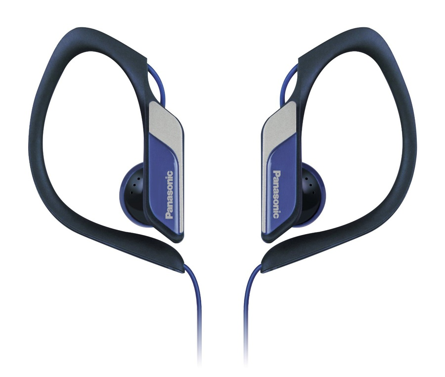 Panasonic Water & Sweat Resistant Sports Earbud Headphones - Blue