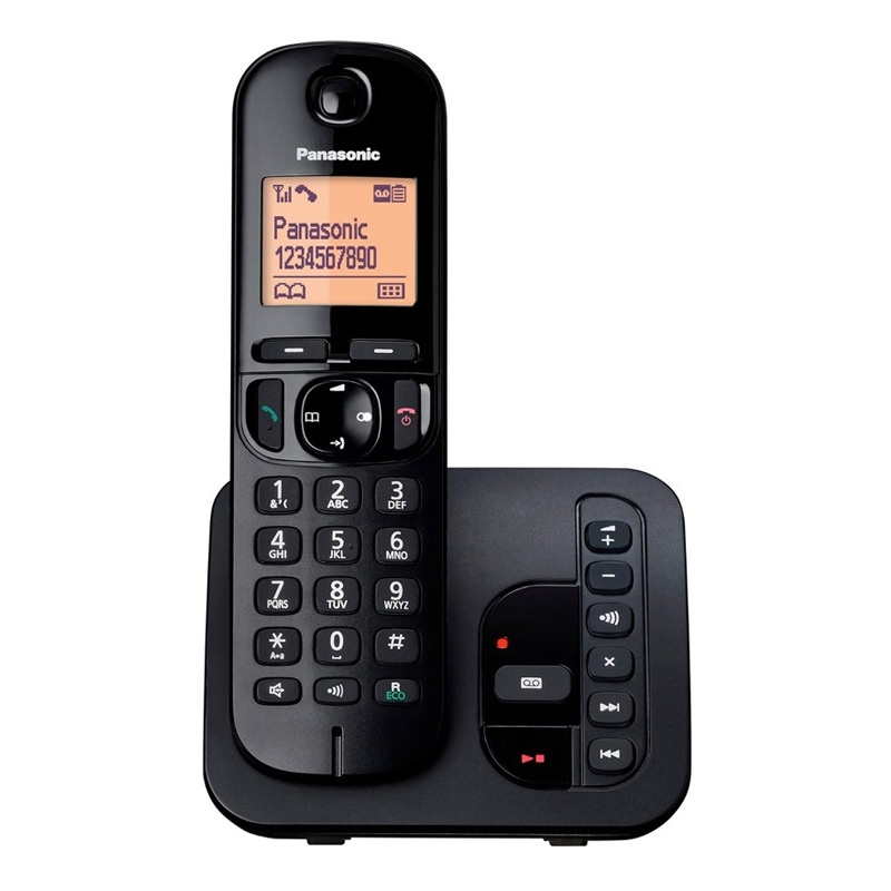 Panasonic Cordless Single DECT Phone with Answer System    Nuisance Call Blocking